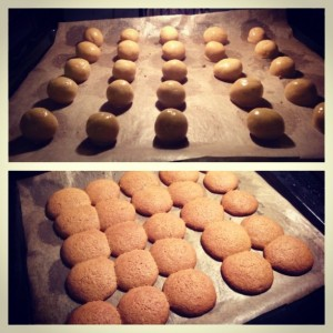 Experiment: Orange-beurre-noisette-salty-toffee-flavoured cookies